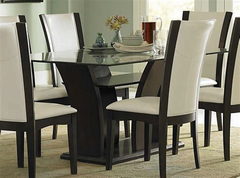 glass dining room table sets homelegance rectangular glass dining set d710 72 at