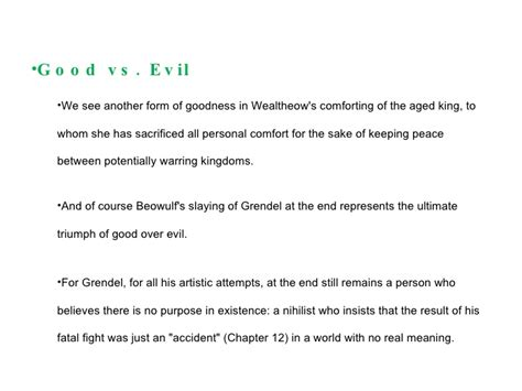 beowulf themes with quotes themes of grendel