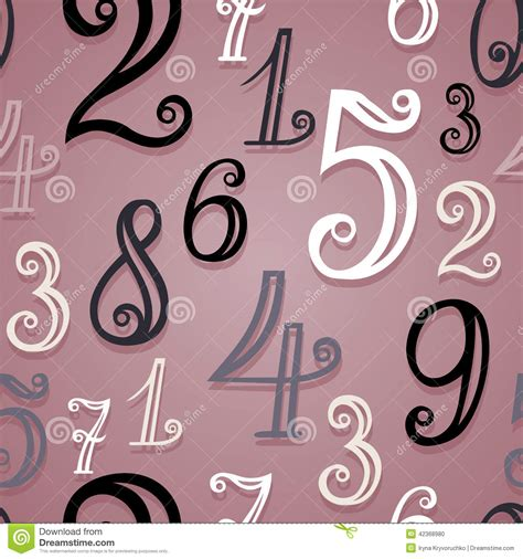 number pattern vector vector seamless pattern with vintage numbers stock vector