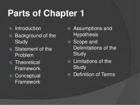 Chapter 1 Thesis Parts Of The Term Paper