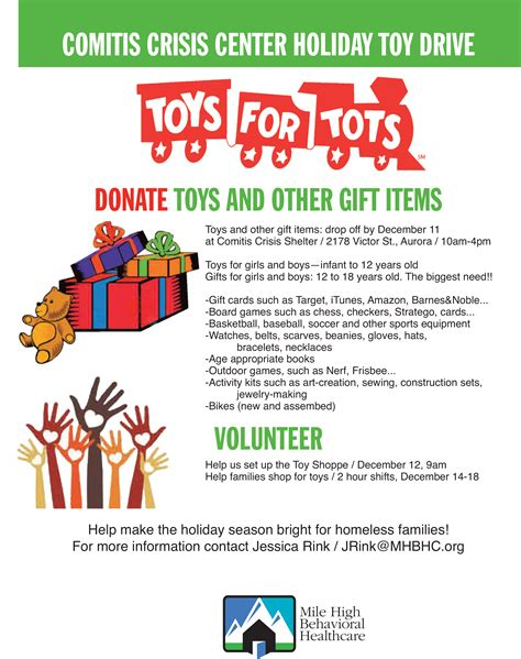 Toys For Tots Mile High Behavioral Healthcare Toys For Tots Email Template