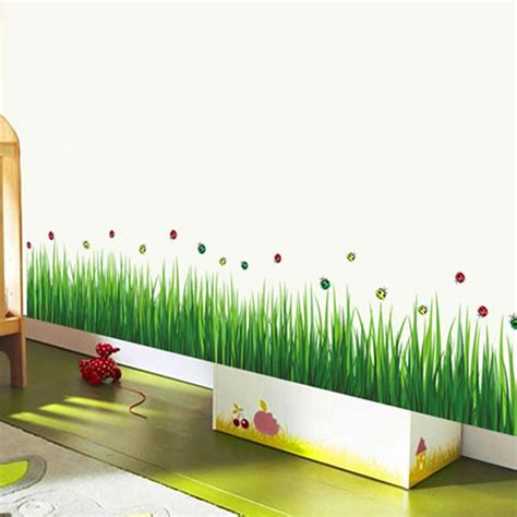 how to start a home decor line aliexpress com buy fashion removable diy green grass