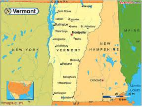 Vermont In Usa Map by Vermont Map