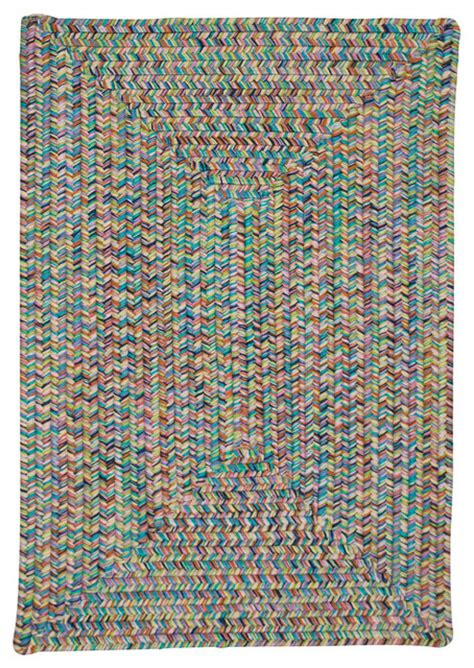 Bright Area Rug Colonial Mills Kicks Cove R Kc47 Bright Braided Rug Reviews Houzz