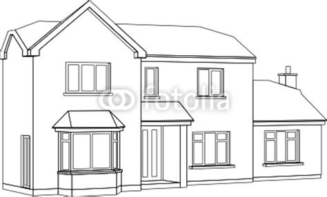 quot a 3d perspective line drawing of a two storey house