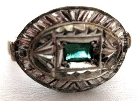 antique silver emerald ring for sale antiques
