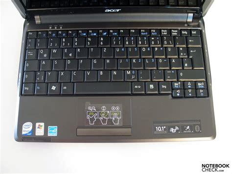 Keyboard Netbook Acer Aspire One review acer aspire one 531 netbook notebookcheck net reviews