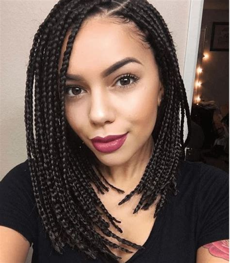 cornrows with box braids in the back 30 short box braids hairstyles for chic protective looks