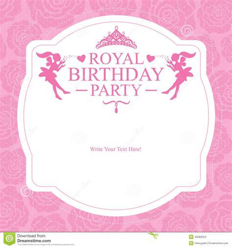 Banner Ulang Tahun 1 X 1m Free Design birthday princess card design stock vector illustration