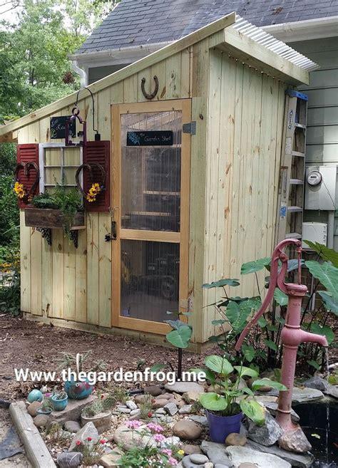 chic garden  tool sheds  garden frog boutique