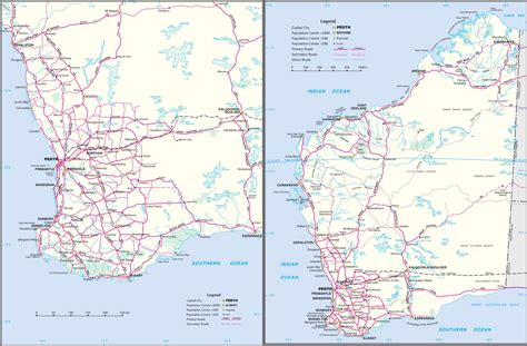 map of western australia western australia road map