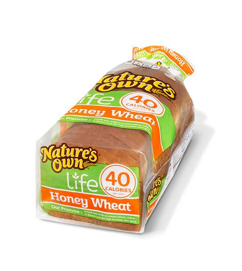 whole grain 100 calorie bread nature s own wheat bread nutrition facts