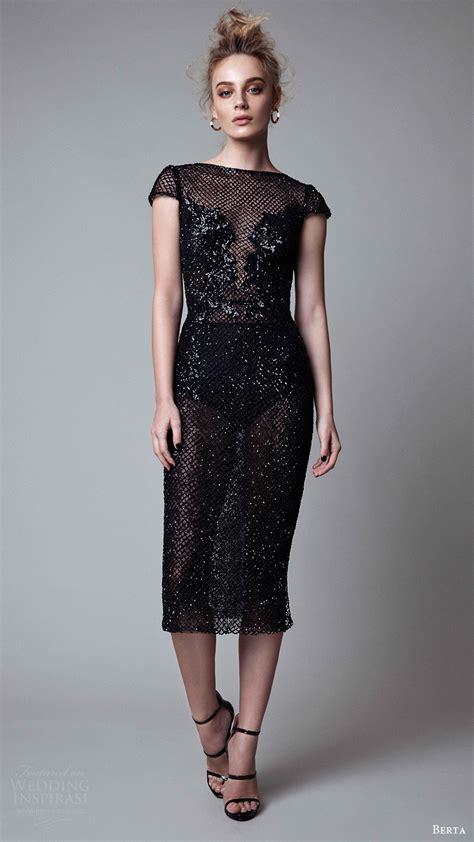 The Evening Black Dress 1 berta fall 2017 ready to wear collection wedding inspirasi