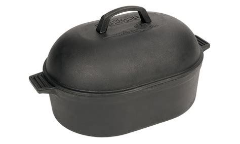 living social cast iron cookware 12 qt cast iron oval roaster livingsocial