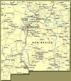 road map of new mexico and show me new mexico