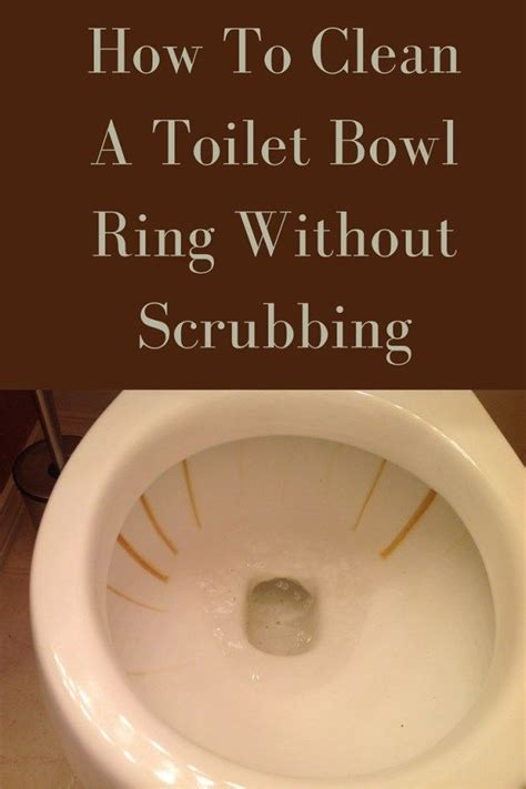 water ring toilet bowl how to clean toilet bowl ring without scrubbing toilet