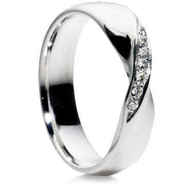 twist 5mm shaped wedding rings by wedding rings direct