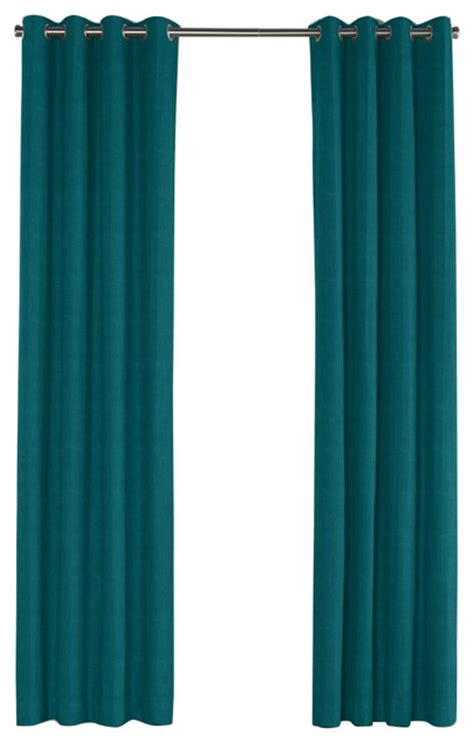 dark teal curtains dark teal linen grommet curtain contemporary curtains