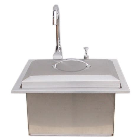 Outdoor Bar Sink With Faucet by Sunstone Premium Drop In Sink With And Cold Water