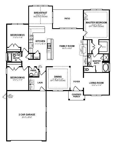 one story 4 bedroom house plans 2018 3 bedroom open floor plan an single story 3 bedroom 2 5 bathroom home house house