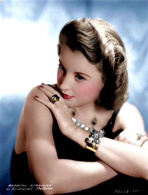actors of color barbara stanwyck color by brendajm impossible to