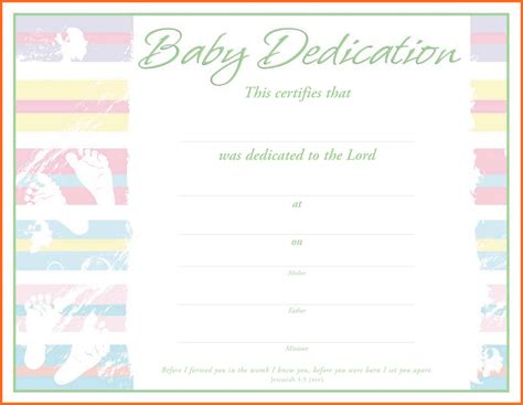 baby dedication card template baby dedication certificate 6126031148 professional and