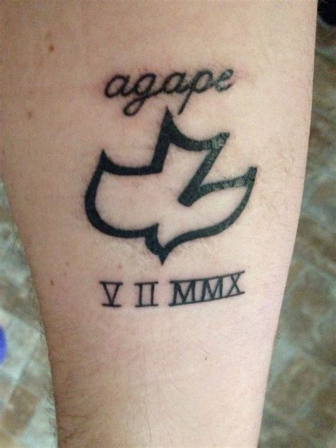 tattoo symbol for unconditional love my first tattoo agape unconditional love dove the