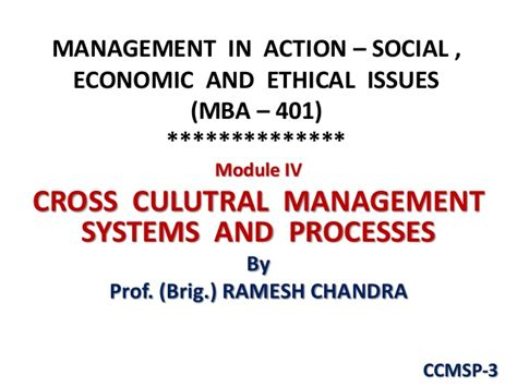 Cross Cultural Management Ppt Mba by Ccmsp 3 Hofstede Study Cc Perspective Pptx