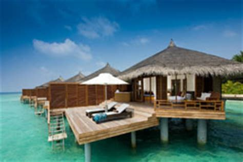 Modern Dining Room Table Chairs by Water Villas With Pool In Maldives Kuramathi Island Resort
