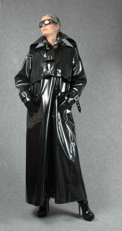 plastic mac stories black rubber trench coat oh yes latex pinterest