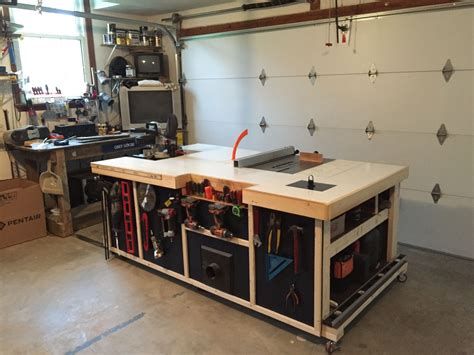 workshop benches rolling workstation table saw cabinet or call it my work