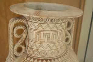 geometric pottery designs illustration ancient history