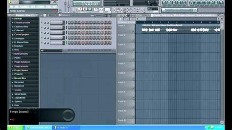 fl studio acapella tutorial tutorial how to sync acapella bpm on fl studio 10 youtube