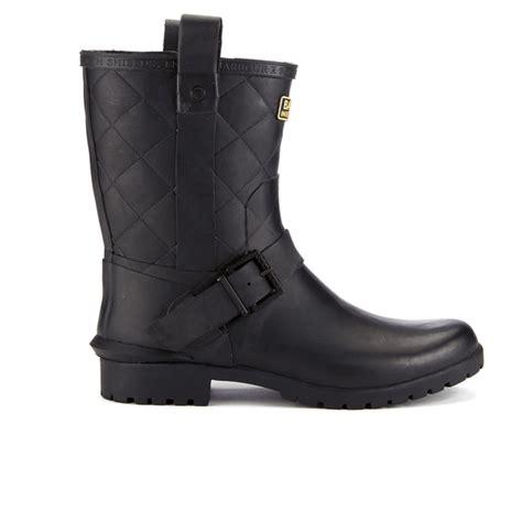 matte black wellies barbour international s matte biker wellington boots