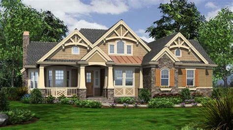 Awesome Craftsman Bungalow House #2: One-story-craftsman-style-house-plans-craftsman-bungalow-lrg-b4463fe3363711ca.jpg