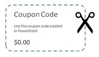 free coupon maker template how to create a coupon powerpoint template using shapes