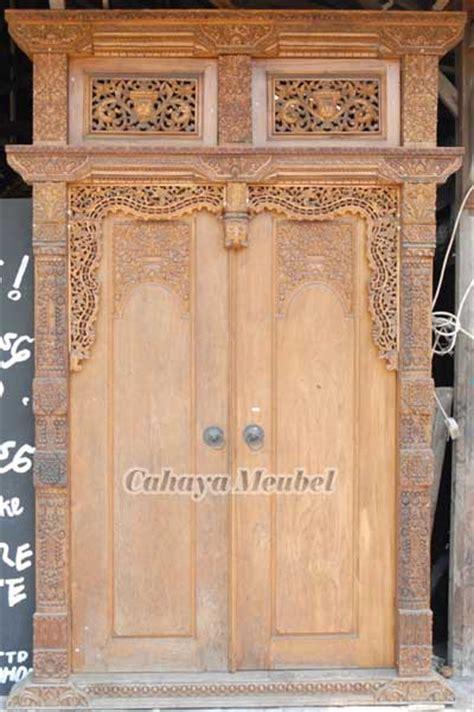 pintu gebyok jawa kayu jati jual pintu gebyok ukir kayu jati jepara cahaya mebel jepara