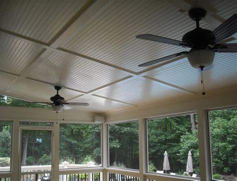 deck ceiling cost bead board ceilings from raleigh decks deck screen