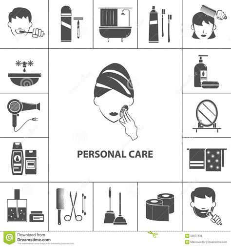 Personal Care 4 personal care products icons composition poster stock vector image 59077438
