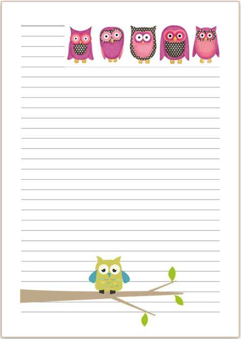 Sticker Hvs A5 1 0 770 Pcs owl letter writing paper a4 or a5 stationary penpal bird gift st3 stationary a4