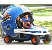Channing Tatum Drives Football Helmet Car For 22 Jump