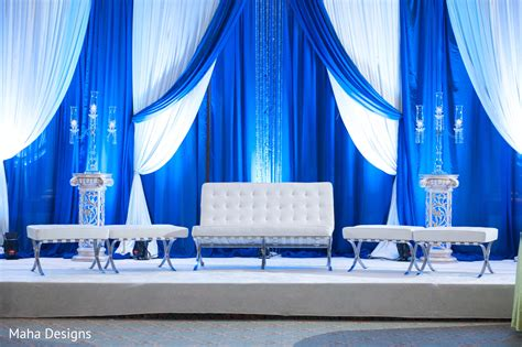 wedding design backdrop stage this beautiful indian wedding reception features blue