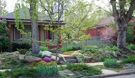 Landscape Ideas Denver Springtime No Lawn Garden Eclectic Landscape Denver