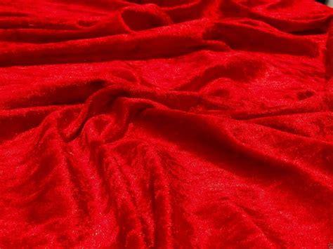crushed velvet upholstery fabric crushed velvet velour fabric material red ebay