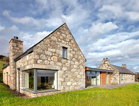 scottish house designs stone and glass torispardon house is a modern take on traditional scottish farmhouses