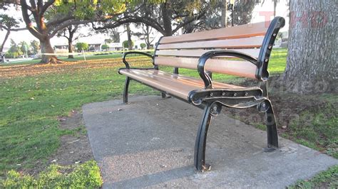 concrete park bench ends outdoor public wooden park bench w metal wrought or cast