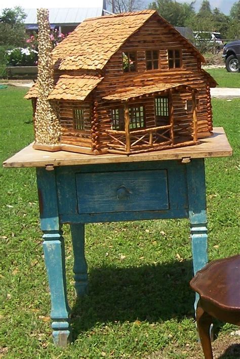 diy log cabin kits miniature log cabin dollhouses a handmade quot adirondack log cabin quot dollhouse i own one too