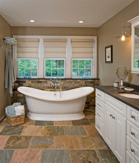 Slate Bathroom Countertops by Slate Countertops Powder Room Rustic With Wood Towel Ring Wall Mirror Wall Cybball