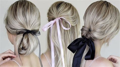 ribbon hairstyles simple easy hairstyles incorporating bows ribbon