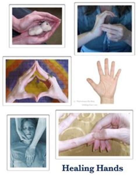 showing reiki hand positions